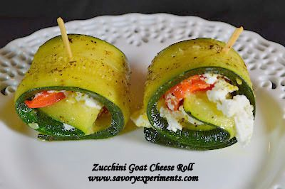 Zucchini Goat Cheese Rolls | The Best of Pinterest Food & Drink | Pi ...
