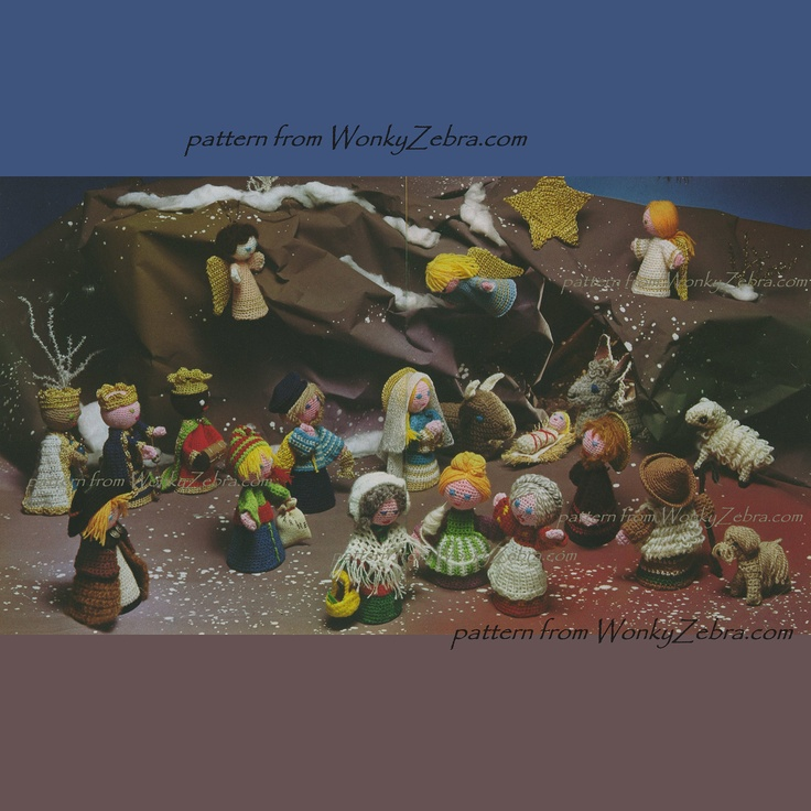 Crochet Nativity Set Amigurumi Dolls Toys People PDF ...