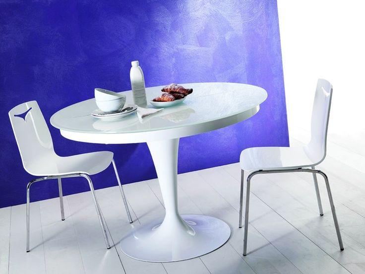 Mesa extensível de jantar oval ECLIPSE by Ozzio Design | design Studio Ozeta