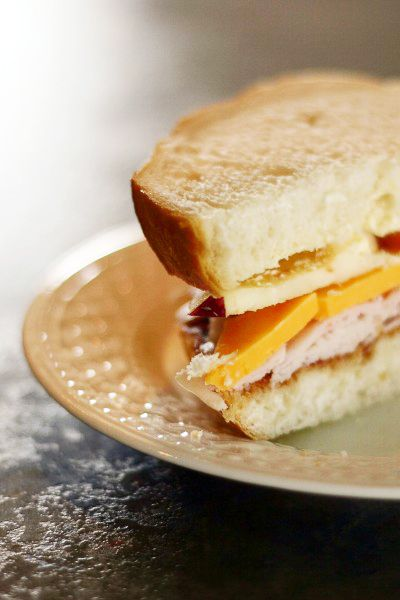 Hearty Apple and Turkey Sandwich....my boss made me one of these years ...