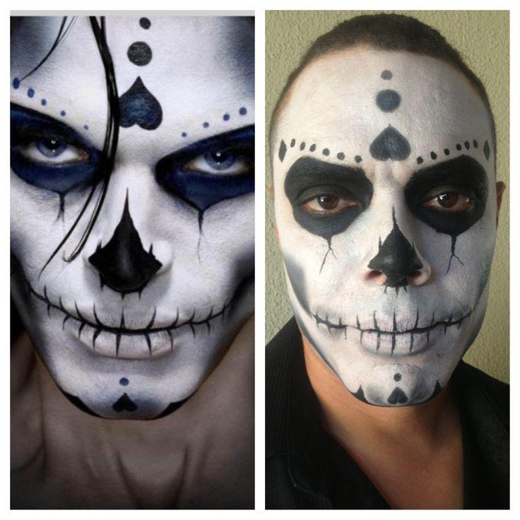 sugar skull makeup inspiration on the left my model on. Black Bedroom Furniture Sets. Home Design Ideas