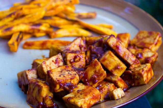 Easy BBQ Tofu #vegan The Healthy Vita | Delic | Pinterest