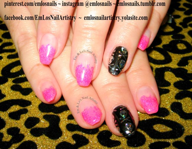 Gel Nails ~ Manicure ~ Nail Art ~ Coffin Nail Shape ~ Neon Pink