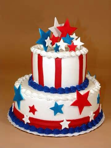 fourth of July wedding cake   4th of July block party   Pinterest