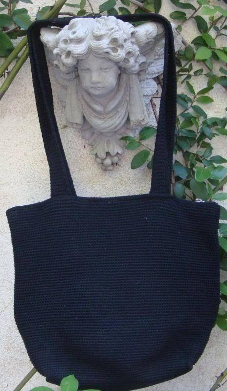 The Sak Black Crochet Purse : THE SAK CROCHET Black CARRYALL Festival ~Shopper~TOTE~SCHOOL~BOOK OR ...