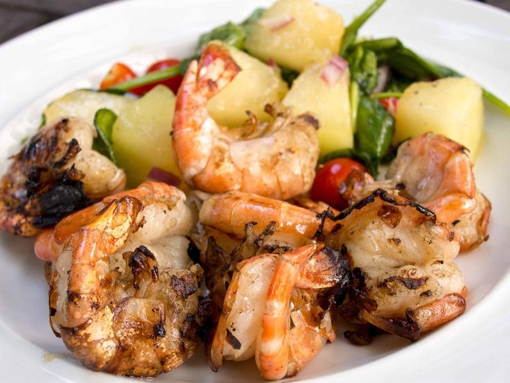 Brined Grilled Garlic Shrimp