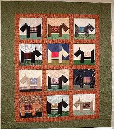 Scottie Dog Quilt Block Pattern Sew Cute Scotties