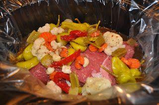 Italian Beef in a Bucket | Slow cooker recipes | Pinterest