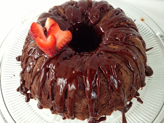 Devil's Food Chocolate Bundt Cake with Chocolate Espresso Ganache