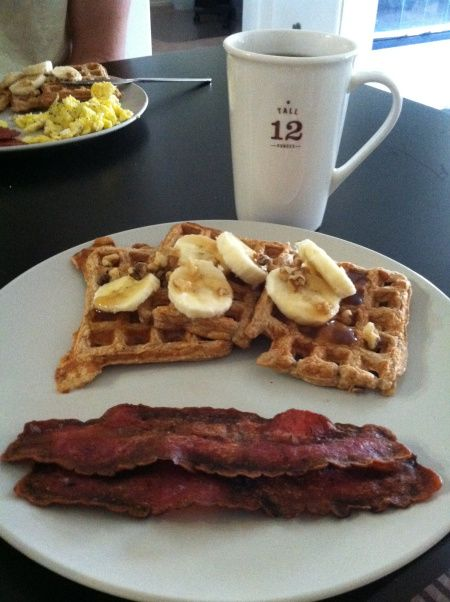 Banana Nut Protein Waffles | Deliciousness | Pinterest