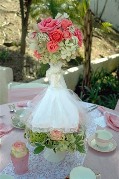 Bridal shower centerpiece lets party pinterest Wedding shower centerpieces