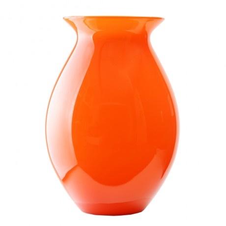 Traditional orange glass vase glass pinterest for Orange vase