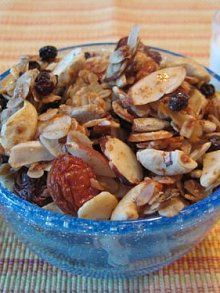 Wee Granola | Weelicious...I added coconut and I used coconut oil