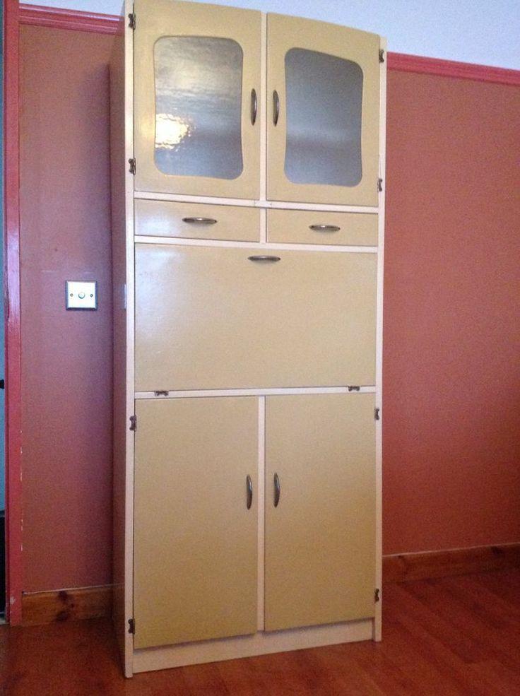 Vintage retro 1950s 1960s kitchen larder pantry cupboard for Kitchenette cupboard