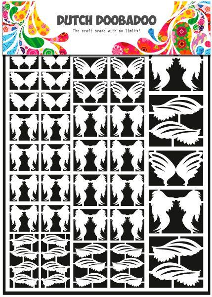 472.948.13 Dutch Doobadoo Paper Art Vleugels