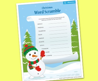 Christmas Word Scramble | Ho Ho Ho-Christmas | Pinterest