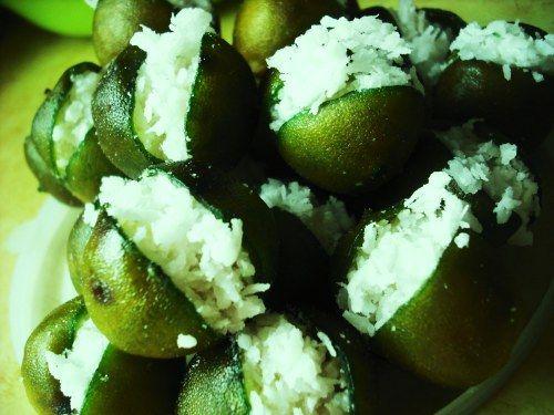 limones rellenos de coco, receta, recipe, coconut stuffed limes, mexican
