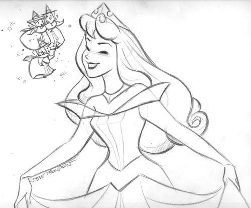 Princess Aurora Drawing DrawingArt Pinterest