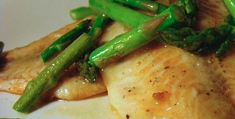 Tilapia Piccata with Asparagus - The Messy Baker