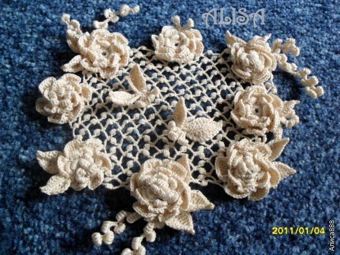 Irish crochet Crochet: Irish lace, RPL & Bruges & freeform Pinter...