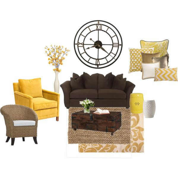 Yellow living room by lavender lemondrops on polyvore