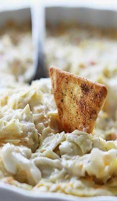 Hot Crab and Cheesy Artichoke Dip | Food/recipe | Pinterest