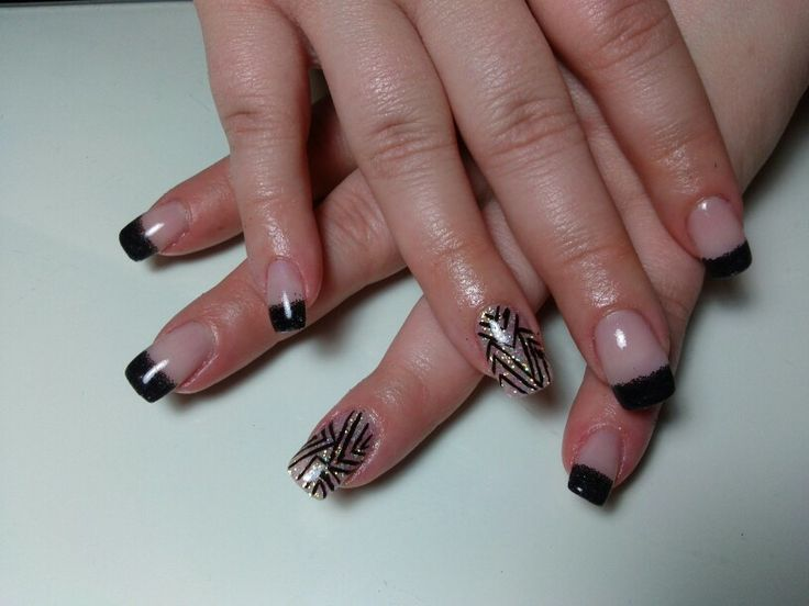 Black gel nails | My passion, my creations! | Pinterest