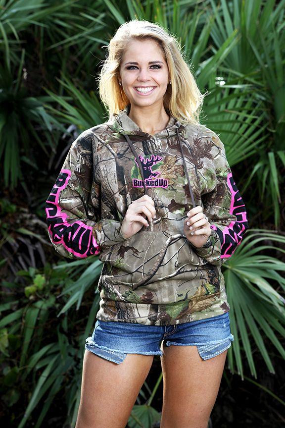 $44.99 Pullover Hoodie - Realtree APG Camo with Pink Logo www.buckedupapparel.com❤❤