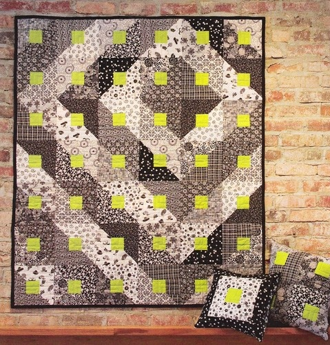 Easy Quilt Patterns For Graduation : Quilt PATTERN ~ Paradigm Shift ~ Beginner Quilting Pattern from Magazine