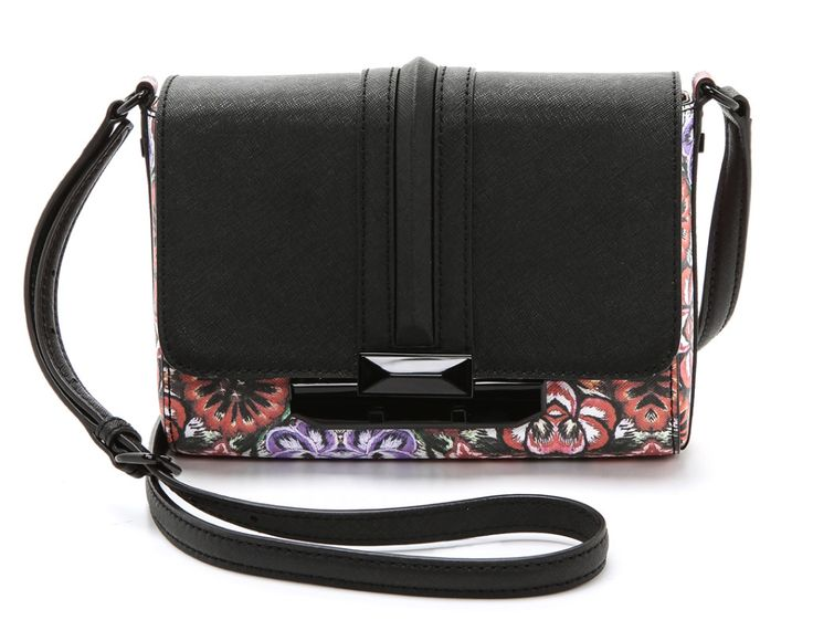 An edgier way to wear spring florals: Rebecca Minkoff floral crossbody bag