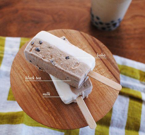 Pearl Milk Tea popsicles