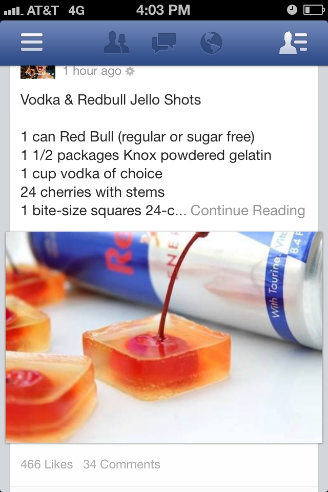 Vodka Red Bull Jello Shots Recipes — Dishmaps