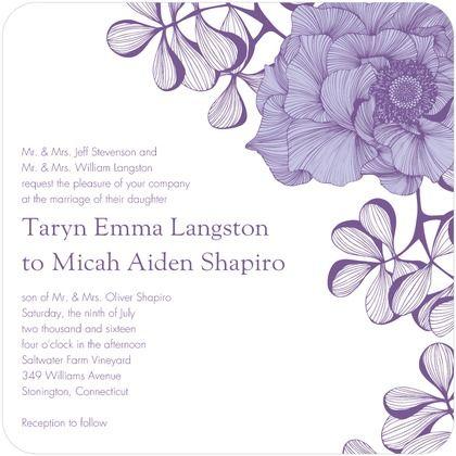 ... Wedding Invitations - Camilla Meijer - Baroque - Purple : Front