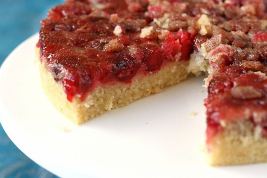 Cranberry Upside-Down Cake. I did not make it vegan, I used an egg and ...