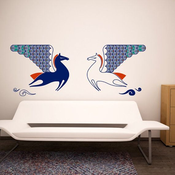 Wall Decor Stickers Pinterest : Pegasus wall decal teenager decals