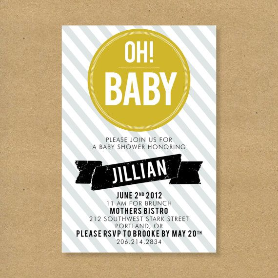 baby shower invitation oh baby gender neutral by henandco love