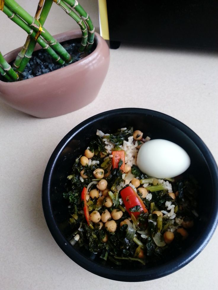 Chickpea and Kale Rice Bowl | Food | Pinterest