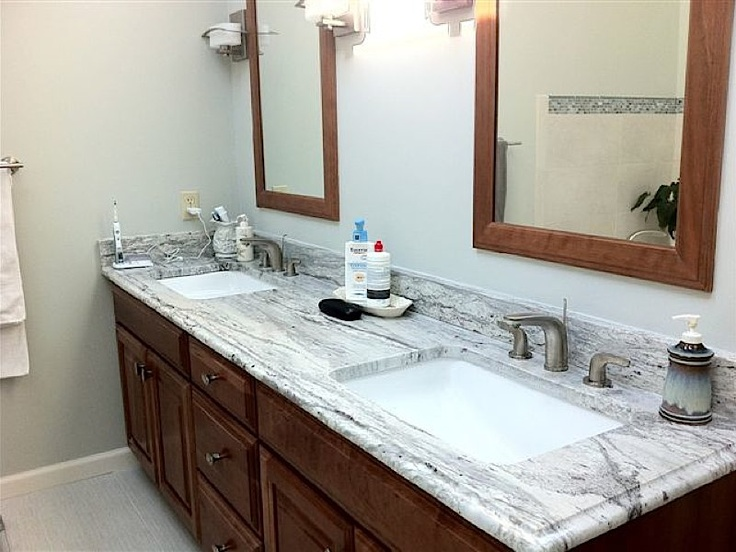 Love the countertops and sink for Beautiful bathrooms pinterest