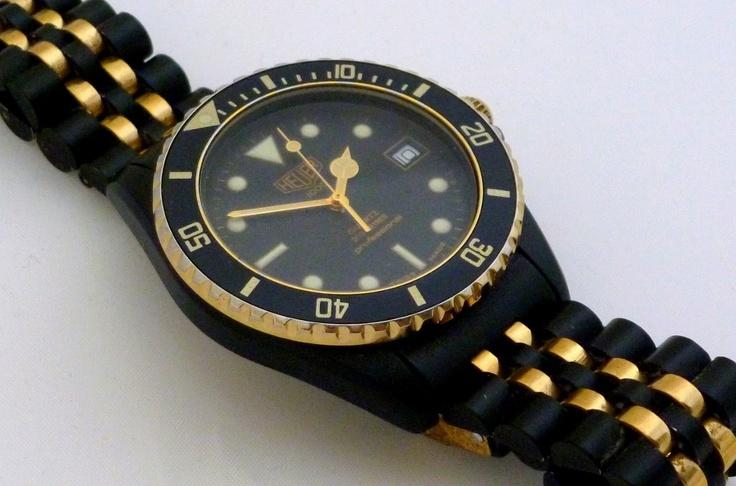 Vintage heuer 1000 diver 39 s watch vintage pinterest - Heuer dive watch ...