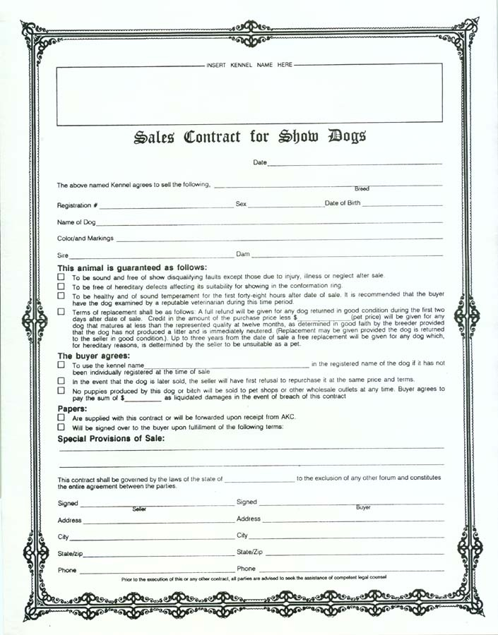 puppy sale contract template datariouruguay