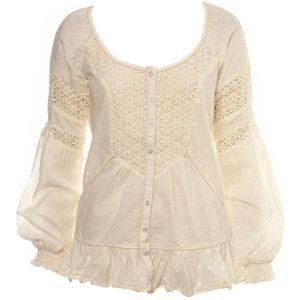 Кремовая блузка