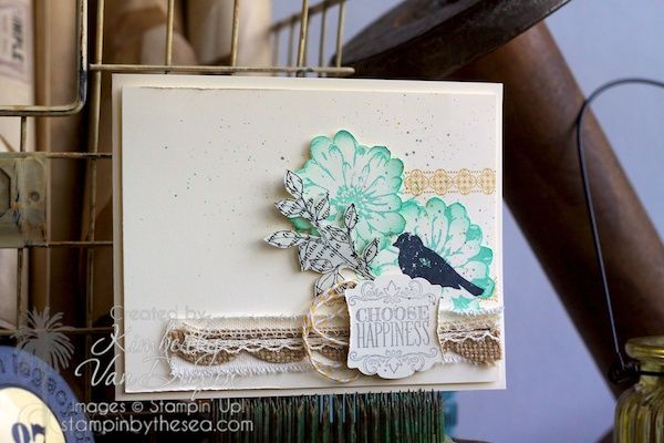 Choose Happiness | Stampin' Up! - StampinByTheSea.com Choose Happiness stamp set Kimberly Van Diepen