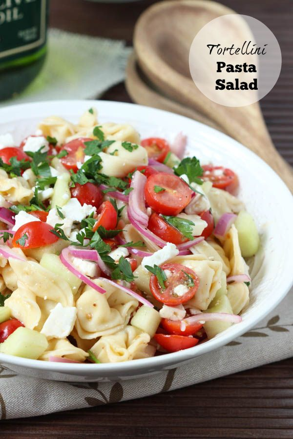 Tortellini Pasta Salad - the perfect summer side dish! With tomatoes ...