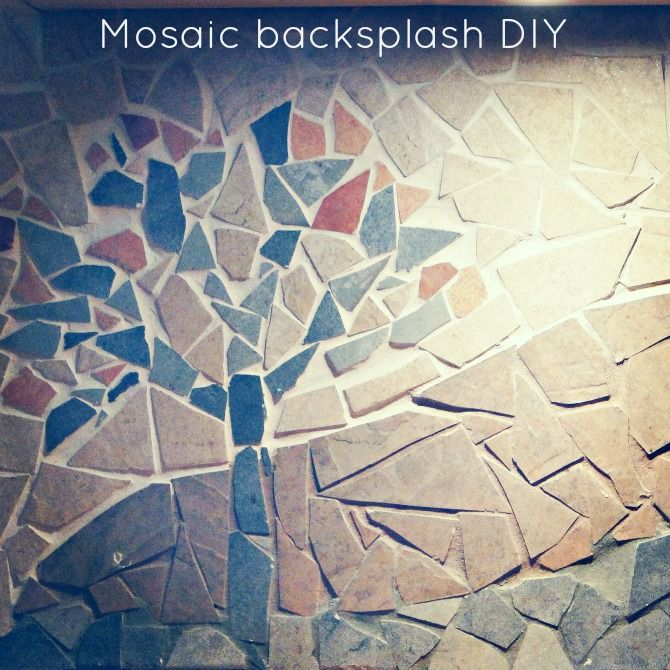 diy tutorial on how to make a mosaic backsplash by design the life