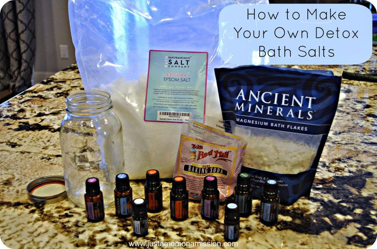 How To Make Your Own Detox Bath Salts Homemade Products