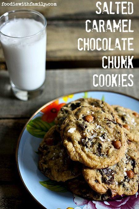 Salted Caramel Chocolate Chunk Cookies | Recipe