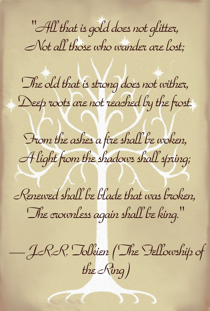 LOTR Lord of the Rings Quote Tolkein
