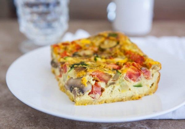 Curry Vegetable Egg Bake | Food | Pinterest