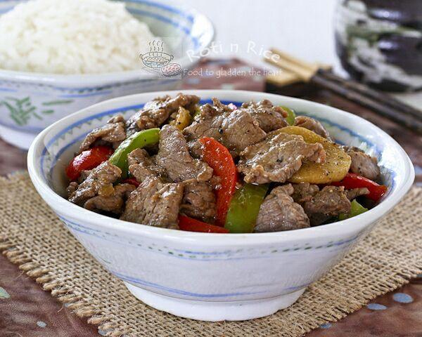 Black Pepper Beef Stir Fry - Roti n Rice
