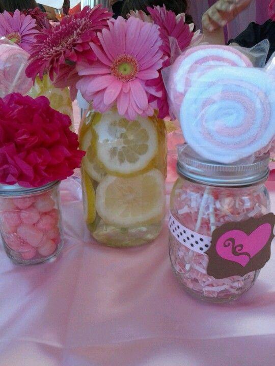 Girls baby shower centerpieces :) | Baby Shower | Pinterest
